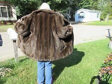 Monterey Brown Fake Fur 3/4 Length Coat- 1X & Fake Fur Bag & Headband to Match