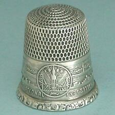 Vintage Sterling Silver Golden Gate Exhibition Thimble by Simons * Dated 1939