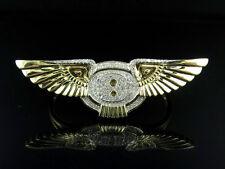 10K Yellow Gold Custom Bentley Logo 2 Finger Fashion Genuine Diamond Ring .85Ct