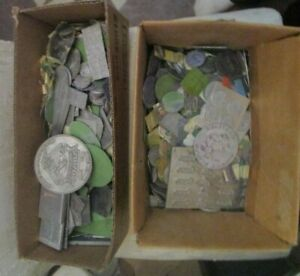 Vintage collection Lot of 250+ Printing plate metal faces advertising Insurance