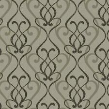 RC3709 Black and Taupe Leopard Scroll Contemporary Damask Wallpaper