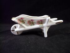 Sheer Elegance Fine Bone China Salt Dip - Wheelbarrow Shaped With Floral Pattern