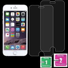 2x iPhone 6 und 6S Schutzglas folie 9H Echt Glas Schutz Folie //a6
