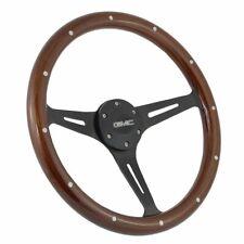 Black 3 Spoke Wood Steering Wheel 74-84 GMC C&K Series Trucks With Adapter Kit