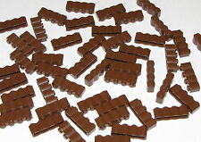 LEGO LOT OF 50 BROWN 1 X 4 WESTERN FORT WALL PALISADE BRICKS PARTS