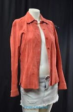 Suede Essentials Leather Jacket coat shirt western barn top women's SZ M VTG NEW
