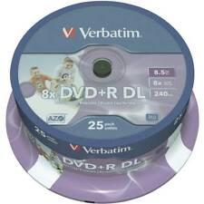Dvd+r dl vergine 8.5 gb verbatim 43667 25 pz torre stampabile
