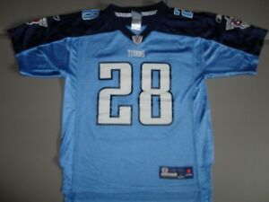 Reebok Tennessee Titans #28 Chris Johnson NFL Youth L (14-16) Screen Jersey