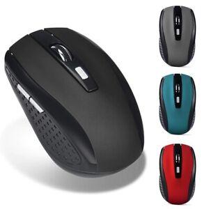 2.4GHz Wireless Gaming Mouse USB Receiver Portable Ergonomic Desktop Laptop Mic