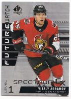 2019-20 SP Authentic Spectrum FX Vitaly Abramov SP Future Watch RC Unscratched