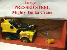 LARGE Vintage Pressed Steel MIGHTY TONKA Yellow Crane No. 3940 Factory Sealed!