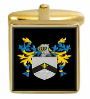 Carver England Family Crest Surname Coat Of Arms Gold Cufflinks Engraved Box