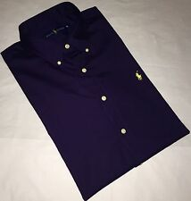 Ralph Lauren Mens  Long Sleeve Classic Fit Navy Blue Shirt Size XL