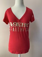 Victorias Secret PINK NFL San Francisco SF 49ers Niners FAITHFUL Tshirt Red