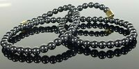 STRONG MAGNETIC HEMATITE NECKLACE 6mm beads- ARTHRITIS PAIN HEALING