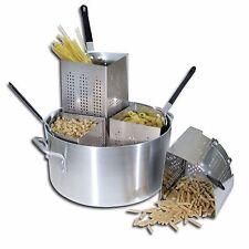 Aluminum Pasta Cooker Pot Cover Frymaster Gourmet Dinner Spaghetti Heavy Duty