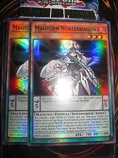 YU-GI-OH! SR MAGICIEN NOBLEDRAGON PLAYSET (LOT DE 2) SDMP-FR003 NEUF EDITION 1