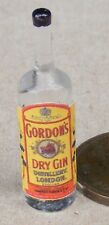 1:12 Scale Glass Bottle With A Gordons Gin Label Tumdee Dolls House Miniature