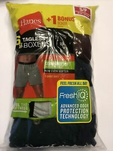 Hanes NWT 6 Mens Comfortsoft Waistband Tagless Solid Knit Boxers - Small  MKCBX6