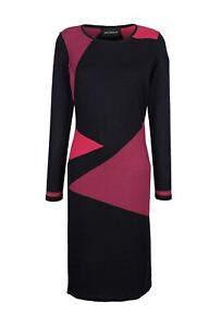 Kleid Amy Vermont Strick Kleid marine blau bordeaux rot knielang Gr 40 42 44