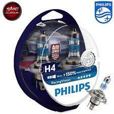 2x Stück Glühlampe Philips Racing Vision H4 12V 60/55W P43t+150% Set Birne Lampe