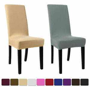 Spandex Stretch Banquet Chair Covers Seat Slipcovers Dining Room Wedding