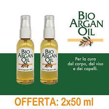 Argan - Olio puro 100% Ecocert Biologico BioArganOil 50 ml - 2 flaconi