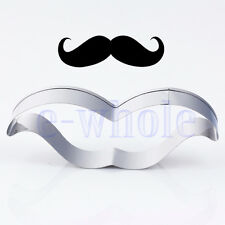 Mustache Stainless Steel Cookie Cutter Cake Biscuit Pastry Baking Mould Mold TW