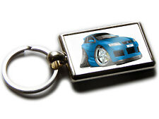 FIAT STILO Sports Car Koolart Chrome Keyring Picture Both Sides