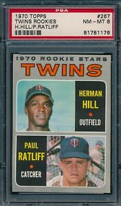 1970 Topps Set Break # 267 Twins Rookies Hill Ratliff PSA 8 *OBGcards*
