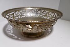 Lattice Work 800 Silver Bawl From Argentina Vintage Antique 80% Silverware LG