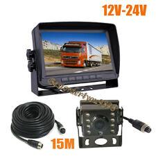 """Monitor LCD para coche IPS HD de 7 """"+ cámara de marcha atrás de 1080P y 4 pines"""