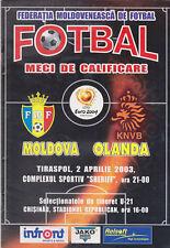 Programme / Programma Moldova v Holland 02-04-2003 Euro 2004 Qualifier