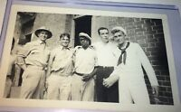 Rare Antique World War 2 American Soldiers / Navy! Panama C.1939 Snapshot Photo!