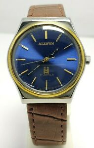 ALLWYN Automatic 17Jewels Movement India Made Men's Wristwatch Blue Glowing Dial
