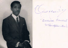 "St. Kitts & Nevis Gov.Gen Clement Arrindell 1931-2011 verso signed photo 3""x4.5"""