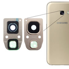 For Samsung Galaxy A3 2017 Rear Back Camera Glass Lens + Frame Cover Gold A320