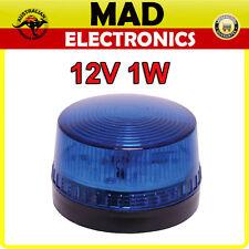12V 1W Flashing Blue LED Strobe for Home or Business Alarm System