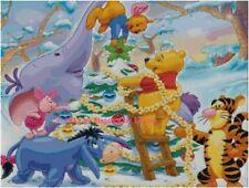 "Disney's Winnie the Pooh ""Decorating the Christmas Tree"" Cross Stitch Pattern CD"