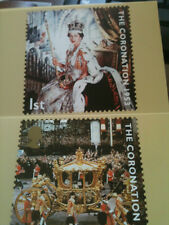 QUEEN ELIZABETH II ROYAL MAIL POSTCARD SET CORONATION 1953 FOR GOLDEN JUBILEE