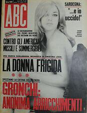 """ ABC : N° 21 / 21/MAG/1967 - JOSIANE GILBERT - al verso SANDRA FEHR """
