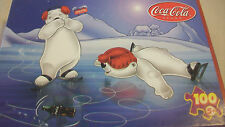 COCA-COLA ICE SKATING BEARS PUZZLE, 100 PIECES, FROM ROSE ART 2002
