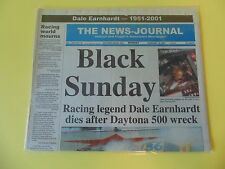 DALE EARNHARDT SR 2001 DAYTONA 500 BLACK SUNDAY NEWSPAPER LOOK! CRASH NASCAR