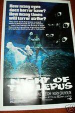 NIGHT OF THE LEPUS 1972  Folded Unused Movie Poster