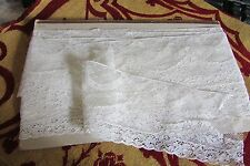 Impresionante longitud antiguas francesas Crema guirnaldas n colas de boda Encaje 14 ft (approx. 4.27 m) c1910