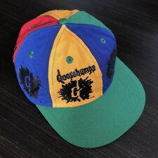 Vtg 90s Goosebumps Color Block Logo 6 Panel Snap Back Promo Hat