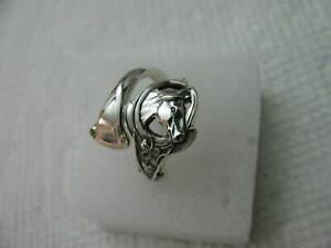 Antique Sterling Silver spoon RING s 6-6 1/4 HORSE Jewelry # 7193