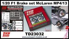 1/20 McLaren MP4/13 Mercedes Frein détail set for Tamiya kit ~ TOP STUDIO 23032