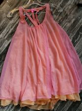 BETSEY JOHNSON BABY DOLL Slip DRESS double layer Tricot SIZE SMALL