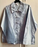 Lovely Chinese Silver 100% Silk Jacket Lagenlook Plus